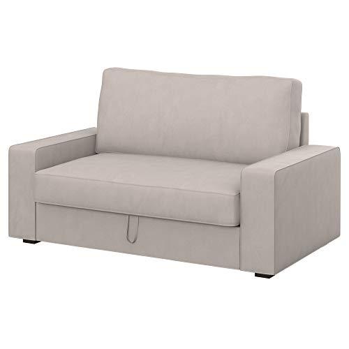 Soferia Bezug fur IKEA VILASUND 2er-Bettsofa Bezug, Stoff Majestic Velvet Dove