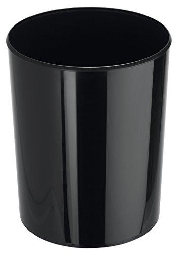 HAN Design-Papierkorb i-Line 18130-13 in Schwarz/Eleganter & stylischer Papiereimer für das moderne Büro/Fassungsvermögen: 13 Liter