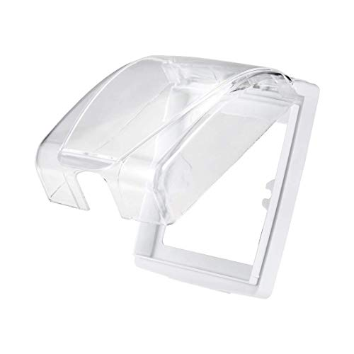YeVhear Box 86 - Enchufe interruptor de pared para placa frontal, panel transparente