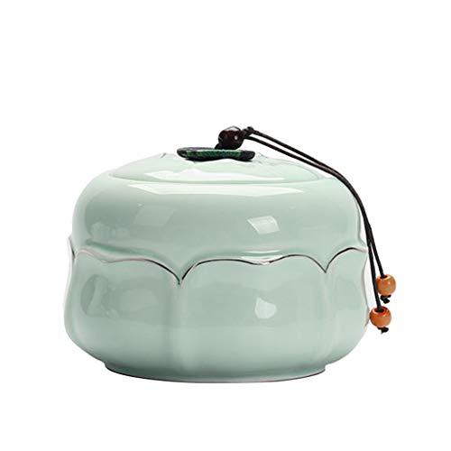 Lotus Bloem Azen Urn, Herdenking Huisdier Seal Coffin Box, Kleine Hond Crematie MEMORIAL Kat Kast, Milieubescherming, Groen