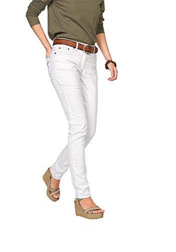 Cheer Damen Jeanshose Jeans Anja (42, Weiß)