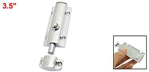uxcell Round Push Button Design Barrel Bolt Door Latch 3.5