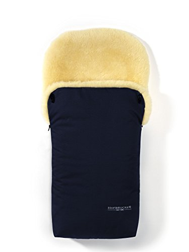 Hofbrucker seit 1948 Wagensack aus Lammfell Putzi dunkelblau one size