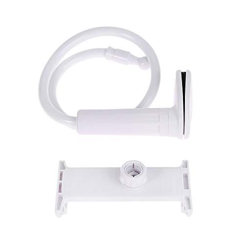 MYBOON Soporte para Tableta Soporte de Escritorio Lazy Mount Soporte Flexible Giratorio para teléfonos móviles de Brazo Largo iPad, tapetes para Puertas en el Interior, Color Blanco