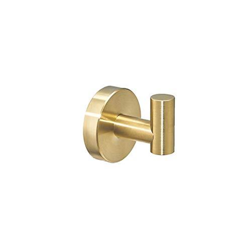 XCQ SUS304 Schwarz Badezimmer Hardware Set Handtuch Bar Rack Toilettenpapierhalter Robe Haken Edelstahl Gold Bad Zubehör Durable 0515 (Color : GP Single Hook)