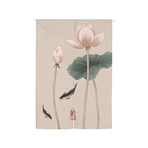 MIEMIE Tapiz Colgante para Puerta, Divisor de habitación, Tapiz de Lino de algodón para decoración del hogar, Cortina de Entrada Japonesa B 75x120cm (30x47 Pulgadas)