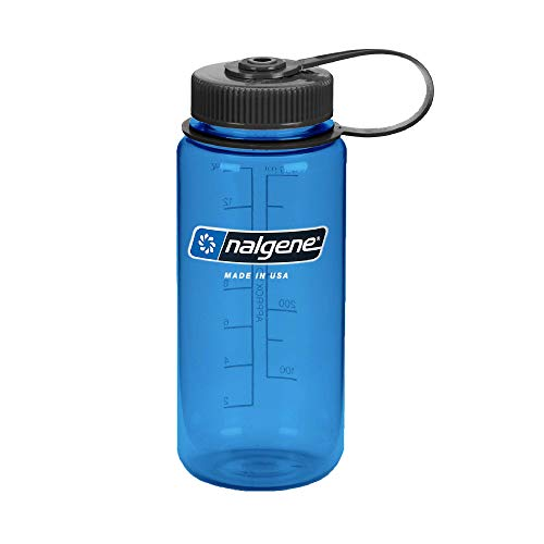 Nalgene Tritan Wide Mouth BPA-Free Water Bottle, Blue, 16 oz