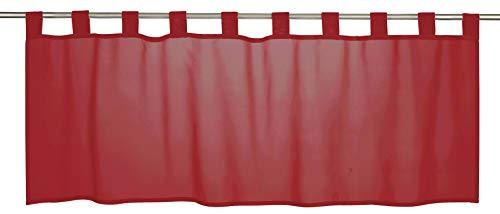 Elbersdrucke Basic 04 Bistrogardine, Polyester, rot, 48 x 140 cm