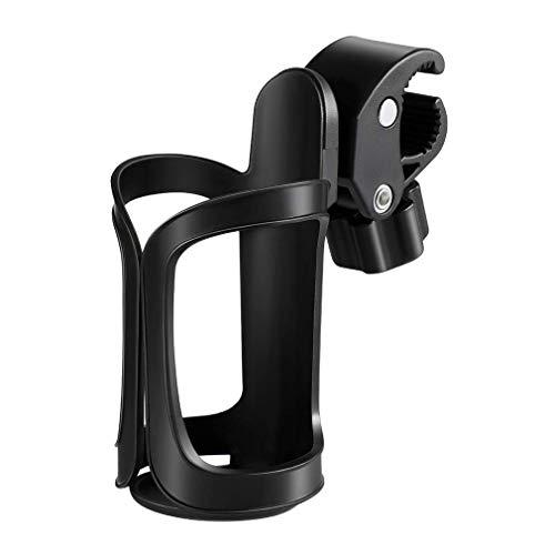 Portavasos Para Cochecito,Portabidon Cochecito Ajustable 360 Grados de rotación,Portabidón Universal Cup Holder,para Baby Strollers y Wheelchair,Compatible con Bicicletas,Bicicletas de montaña Negro