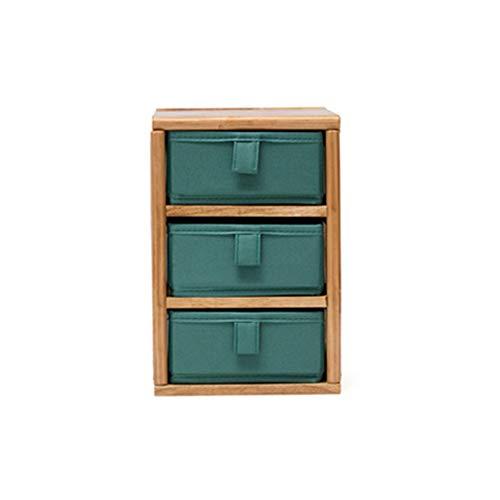 MDFQL Organizador de vanidad, gabinete de Almacenamiento de Tablero de Mesa de Madera de Madera, Bastidor Escalonado con cajón de Tela Oxford, método de combinación Gratis, para Mesa de tocador,B