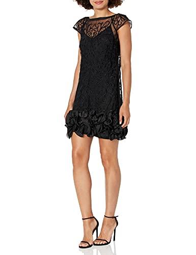 Guess Damen Gdjp2491 Cocktailkleid, schwarz, 32