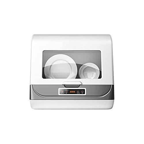 KSDCDF Mini lavaplatos de encimera portátil, depósito de Agua sin instalación, Cuidado de bebé, Lavado de vidrios y Frutas, for pequeños Apartamentos, dormitorios y RVs, Blanco