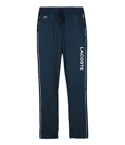 Lacoste Herren Grafische Pyjama-Unterteile, Blau, Large