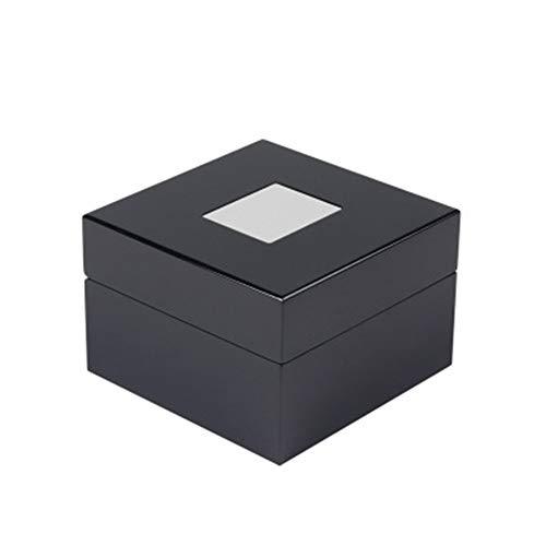 GEEKEN Schwarze High-End Uhrenbox Display Box Tragbare Geschenkuhr Display Box Quadratische Aufbewahrungsbox