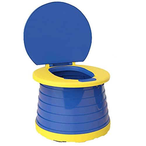 Asiento de Inodoro Para Niños, Silla de Inodoro Plegable Para Entrenamiento de Bebés Orinal de Viaje Para Interiores y Exteriores con Bolsa de Viaje (blue)