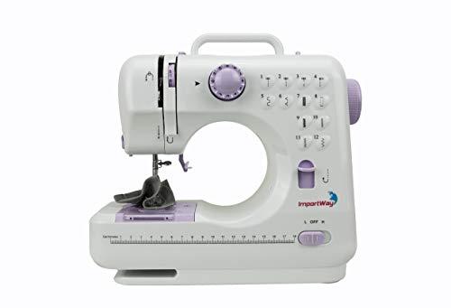 Máquina de Costura Multifuncional Portátil Branca Kit de Costura e Agulha