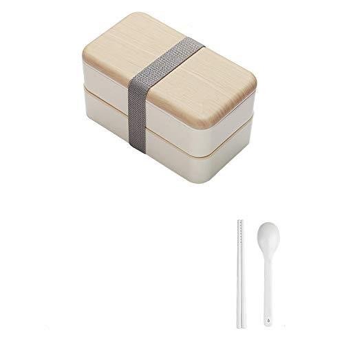 Nologo Wanglin A Mikrowellen-Lunchbox 1200 ml Holz-Feeling Salat Bento Box Tragbare Container Box Arbeiter Studenten