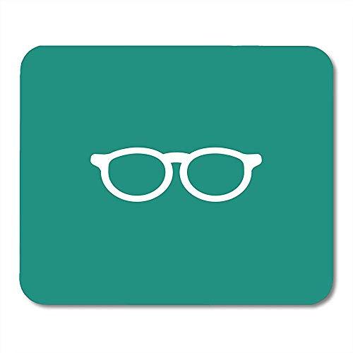 Blau Zubehör Weiß Flache Hipster Brille Türkis Unisex Student Brillen Einfache Bücherwurm Piktogramm Glatte Waschbar Computer Pad Matte 18x22 CM