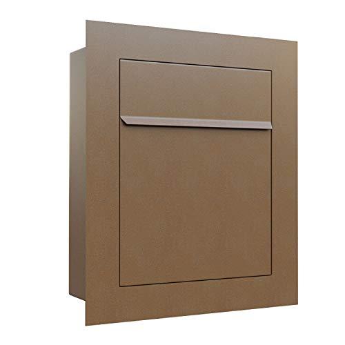 Unterputz-Briefkasten, Design Einbaubriefkasten Bari Rost - Bravios