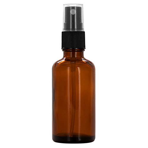 Geshiglobal Glasflasche, 10/15/20/30/50/100 ml, leer, bernsteinfarben, für ätherische Öle, Behälter mit Zerstäuber