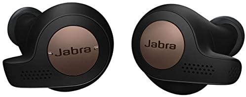 Jabra Elite Active 65t Earbuds – True Wireless Earbuds with Charging Case, Copper Black – Bluetooth Earbuds with a Secure Fit and Superior Sound, Long Battery Life and More