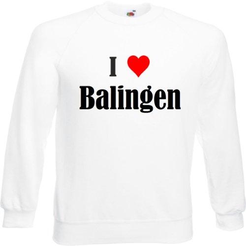 Reifen-Markt Sweatshirt I Love Balingen Größe 2XL Farbe Weiss Druck Schwarz