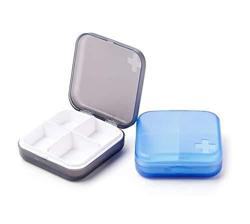 Caja De Pastillas Portátil Caja De Medicamentos Pastilla Para Píldoras a Prueba De Humedad Para Vitaminas/Aceites De Pescado/Medicación Perfecta Para Viajar