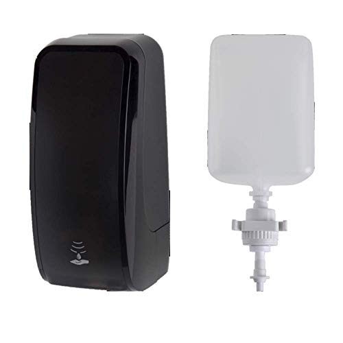 Set: Schaumseifenspender Sensor, berührungslos Blanc Cosmos versch. Farben+3X 1-Liter Schaumseife mild - PRODUKTSET - Schwarz
