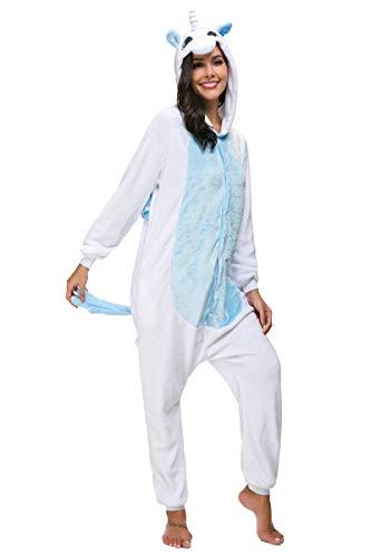 Mescara Pigiama Cosplay Intero Unisex Animale Costume Halloween Carnevale Tuta Attrezzatura Festa Party Sleepwear (XL, Blu)