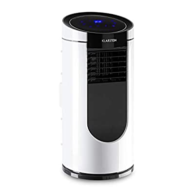 Klarstein Metrobreeze Miami - Mobile Air Conditioner, 9,000 BTU / 2.6 kW, 950 W, Air Flow: 380 m³ / h Max, Recommended Room Size: 26-44 m², Energy Efficiency Class A, 4 Modes, 3 Wind Speeds
