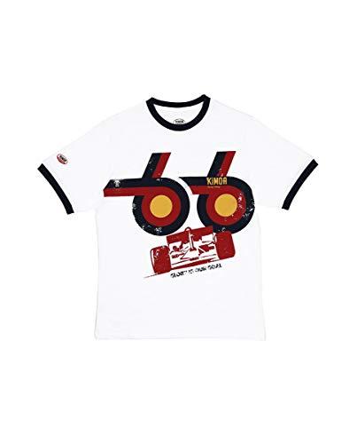 Kimoa Camiseta Glory is Our Goal, Unisex Adulto, Blanco, S