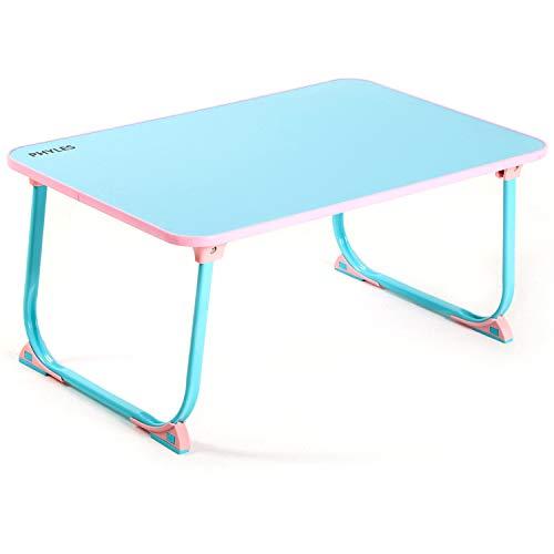 PHYLES ローテーブル テーブル 折りたたみテーブルミニテーブル折り畳みテーブルパソコンデスク座卓 ベッドテーブル ちゃぶ台多機能耐荷重40kgモバイル便利な食品学習屋外釣りBBQ 60 * 38 * 26 cm (青)