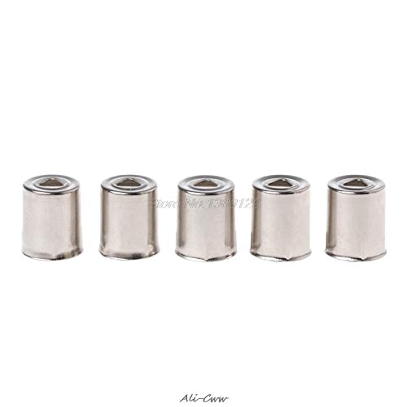 Fevas 5Pcs/Set Steel Cap Microwave Oven Replacement Round Hole Magnetron Silver Tone 17mm X 13.5mm AUG_27