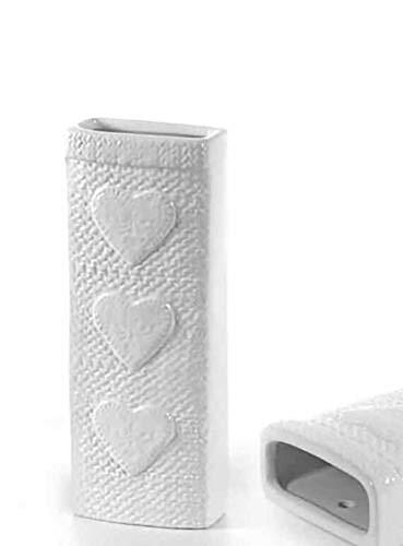 Kasahome 2 humidificadores evaporadores para agua ambiente de cerámica Humidificador evaporador para radiadores de casa corazón blanco