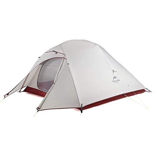 Naturehike CloudUp3 テント 3人用 自立式 設営簡単 超軽量 コンパクト 二重層 4シーズン PU3000/4000 キャンピング 防風 防雨 アウトドア フィールドキャンプ 登山 ハイキング サイクリング(アップグレード版)