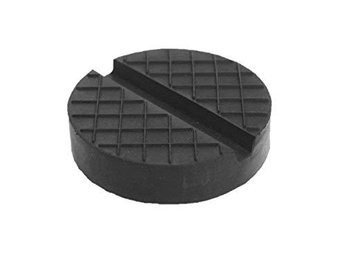 Gummiauflage viele Größen für Wagenheber Hebebühnen Rangierwagenheber Unterstellbock Gummiklotz universal Gummiblock für KFZ PKW SUV Reifenwechsel Werkstatt Schutz Auto (100x25 V-Nut+Waffel)