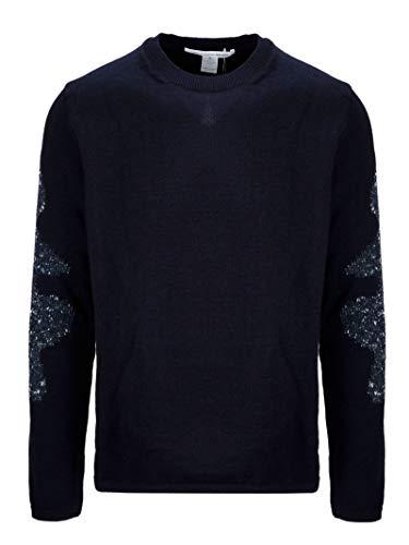 Luxury Fashion | Comme Des Garçons Shirt Heren W275052 Donkerblauw Polyester Truien | Seizoen Permanent