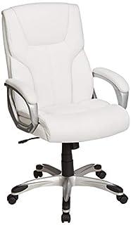 AmazonBasics High-Back Executive Swivel Office Desk Chair - White with Pewter Finish (B07GPSQKV9) | Amazon price tracker / tracking, Amazon price history charts, Amazon price watches, Amazon price drop alerts