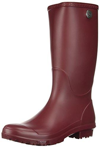 UGG Women's Shelby Matte Rain Boot, garnet, 9 M US