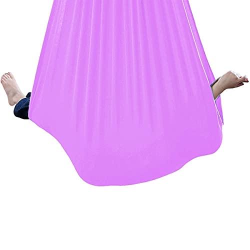 KTDT Hamaca de Yoga con Columpio Interior para niños 360 & deg;Columpio de Terapia giratoria para Adultos Columpio de Terapia física en Interiores para Autismo, TDAH, síndrome de Asperger (Color