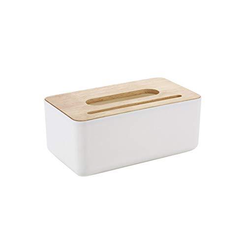 DIYARTS Log Cover Tissue Box Rechteckige Kosmetiktuch Box Fall Halter Für Hotel Table Decor Organizer Haushaltswaren (Weiß)