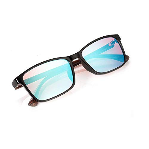 Zryh Farbenblinde Gläser Rot Grün Farbenblindheit Vollschwarze Brillen for formelle Anlässe