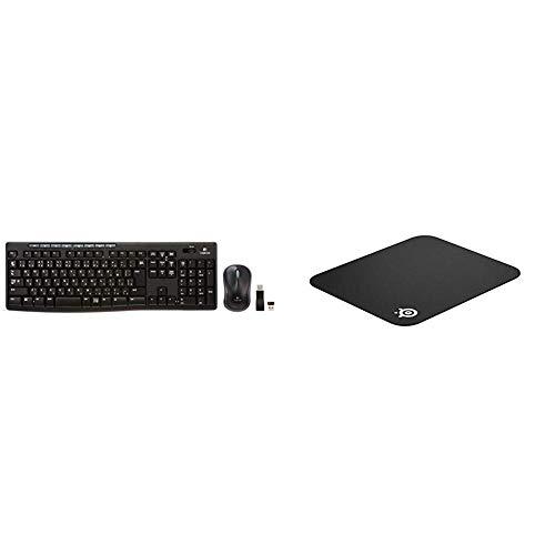 【セット買い】LOGICOOL ワイヤレスコンボ mk270 & SteelSeries QcK mini マウスパッド 63005