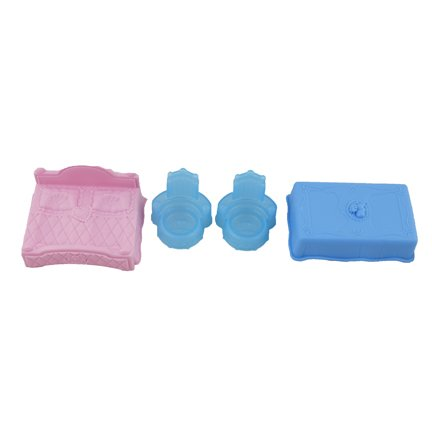 Disney Princess Cinderella Castle by Little People ~ CGK05 ~ Replacement Parts Bag - Contents: Blue Chairs, Blue Table & Pink Bed