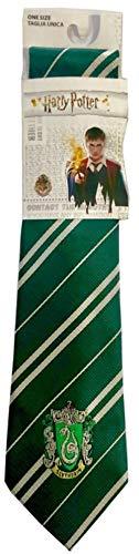Sabor Cravatta Adulto Casa Serpeverde con Stemma Originale 140cm Harry Potter Slytherin