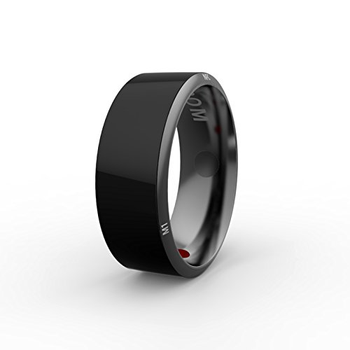 PURROMM Smart NFC Multifunktionale Ring für Android Windows Phones Zahlung Black Titanium Schmuck,11