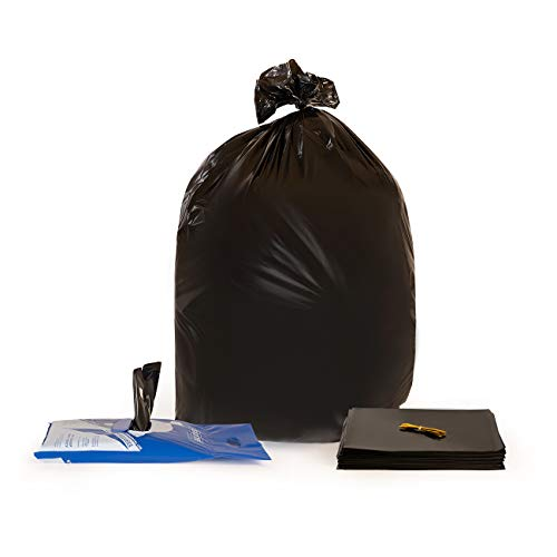 55 Gallon Trash Bags Heavy Duty - 50 Large Garbage Bags
