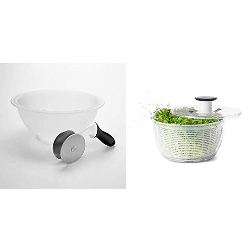 OXO Good Grips Salad Chopper & Bowl, 12.5 x 5.5 x 12.5 inches, White & Good Grips Salad Spinner, Large