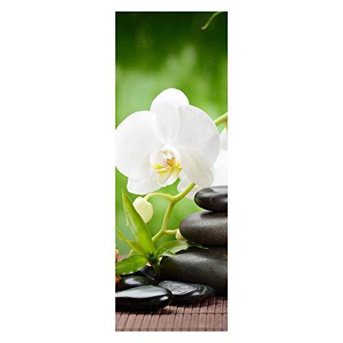 wandmotiv24 Türtapete Wellness 70 x 200cm (B x H) - Dekorfolie selbstklebend Sticker für Türen, Tür-Bilder, Aufkleber, Deko Wohnung modern M0491
