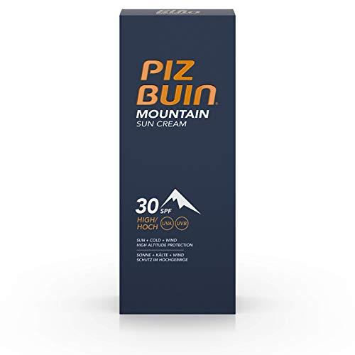 Piz Buin Mountain Sun Cream, Sonnencreme, Sonnenschutz Wintersport, Hoher Schutz vor Sonnenbrand, Kälte und Wind, LSF 30, 50 ml